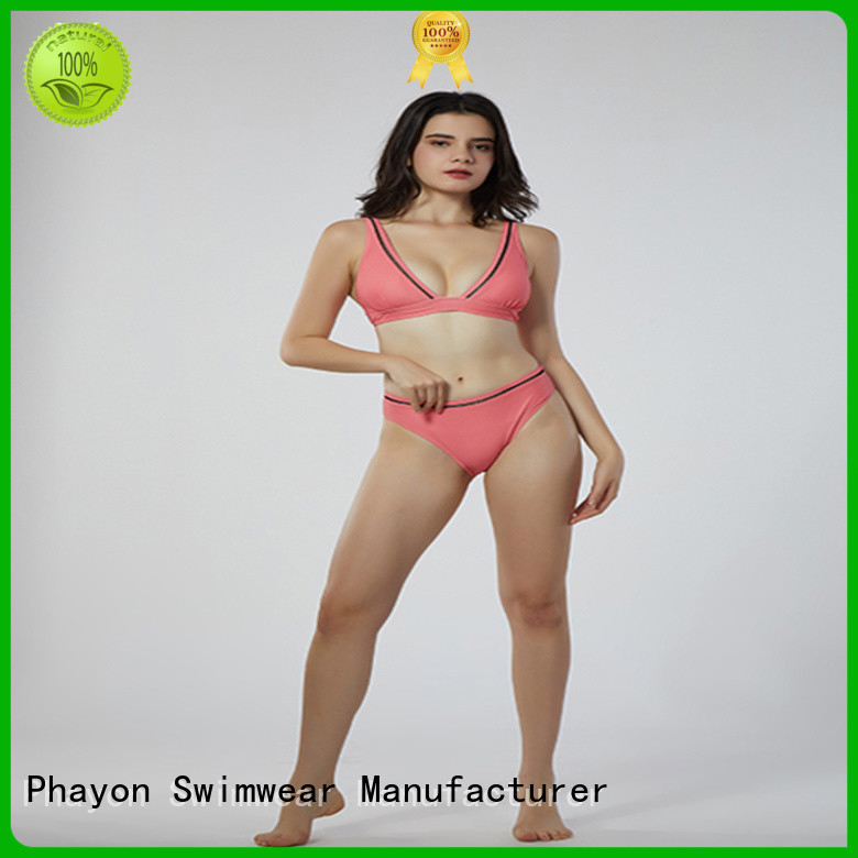 PHAYON v neck custom swimwear with back hollow for holiday