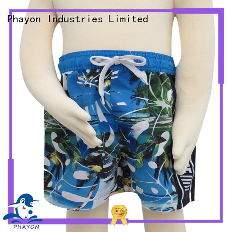 Fashion print beach shorts for boys