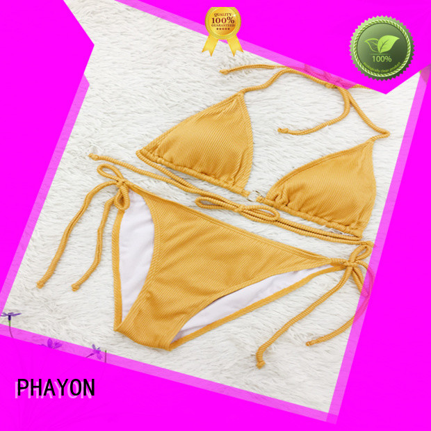 PHAYON letters print bathing suit dress company for beach