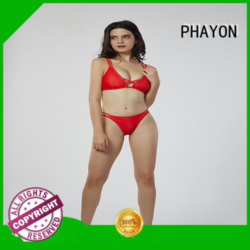 PHAYON girl swimming bikini with back hollow for swimming pool