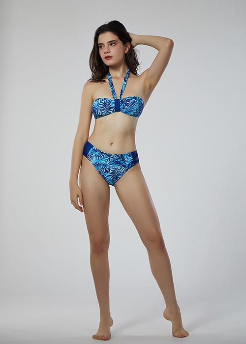 2019 wholesale custom triangle bikini set sexy  two piece swimsuit&tankini with solid color