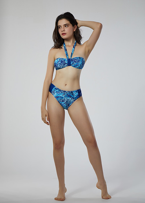 2019 wholesale custom triangle bikini set sexy  two piece swimsuit&tankini with solid color