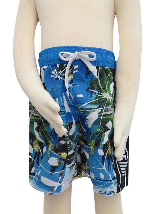 Fashion print beach shorts for boys