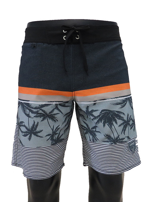 Summer prints and stripes collide Quick dry men's surf beachwear