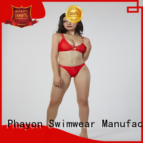 PHAYON two piece ladies swimwear sale with back hollow for beach