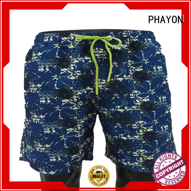 PHAYON mens clothing sale with waist elastic design for beach