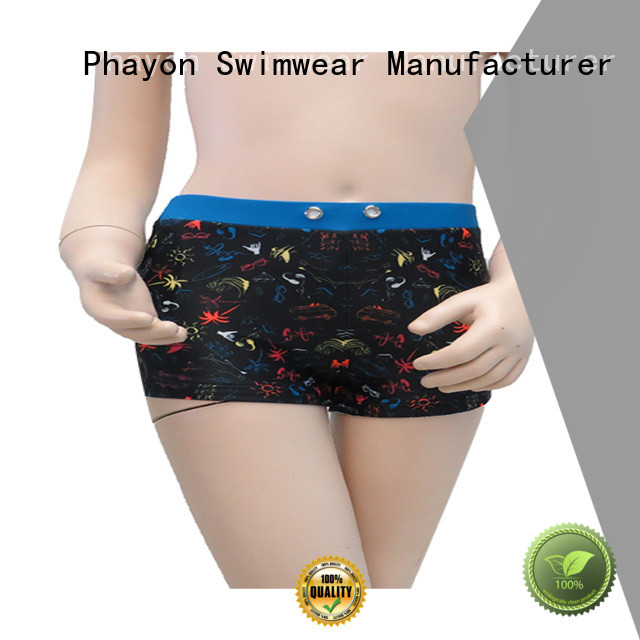 PHAYON custom swim trunks boxer trunks for swimming pool