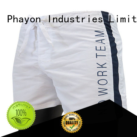 PHAYON beach shorts for guys supplier for swimming pool