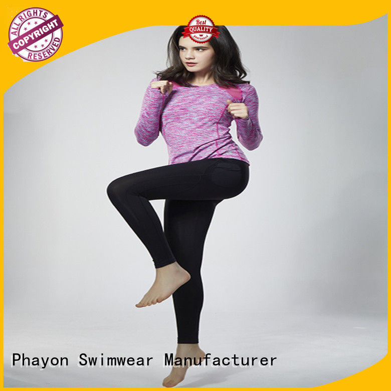 PHAYON blank fitness clothing yoga fitness wear for outdoor activity