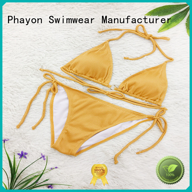 PHAYON custom swimwear with back hollow for swimming pool