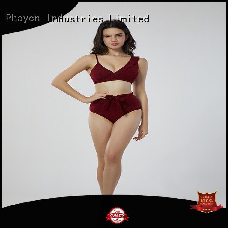 PHAYON v neck ladies bikini supplier for beach