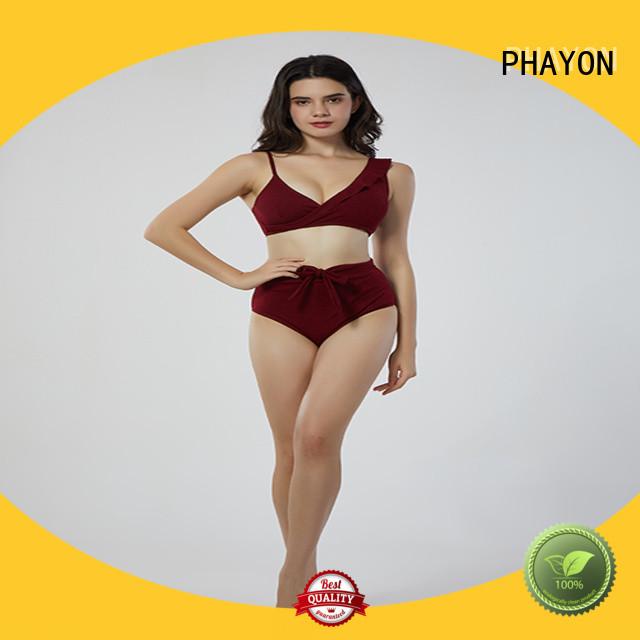 double fabric bikinis swimwear with padding for swimming pool