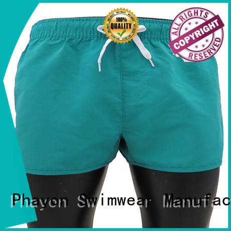 PHAYON traditional style beach shorts men with waist elastic design for holiday