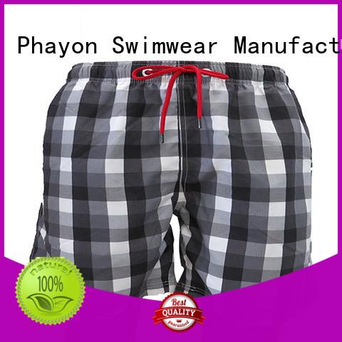 PHAYON sports beach shorts for guys surf beachwear for holiday