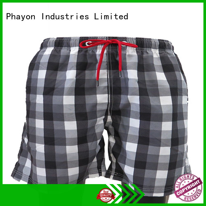 PHAYON black mens boardshorts sale manufacturer for holiday