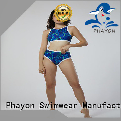 PHAYON letters print custom swimwear tankini for holiday