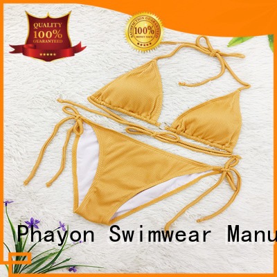 PHAYON letters print swimwear manufacturers with back hollow for swimming pool