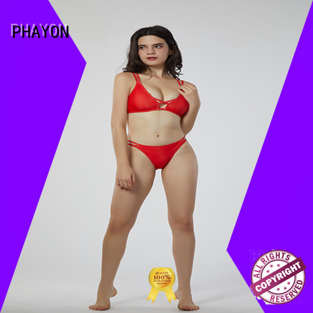 PHAYON striped custom bikini with back hollow for swimming pool