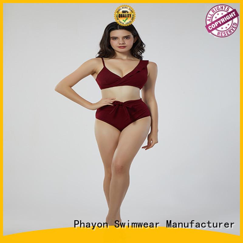 solid bikini wear supplier for swimming pool