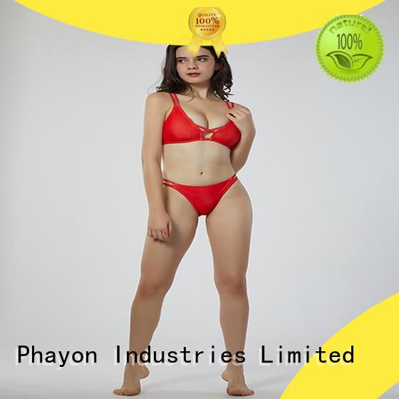PHAYON ripple custom swimwear with back hollow for beach
