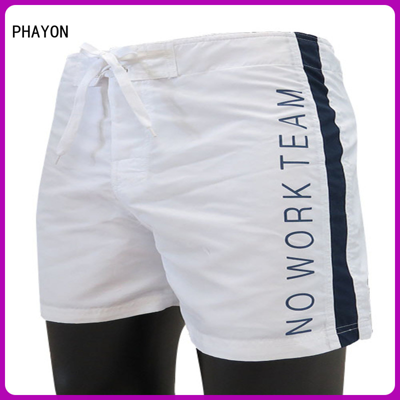 sports board shorts for men on sale with waist elastic design for holiday PHAYON