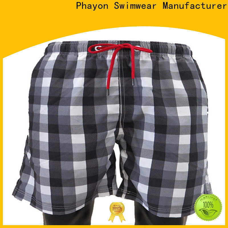 PHAYON pattern beach shorts men surf beachwear for beach
