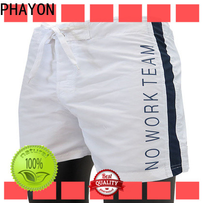 PHAYON black beach shorts with waist elastic design for beach
